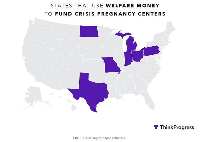 Datapoint: States that allocate welfare funds to CPCs