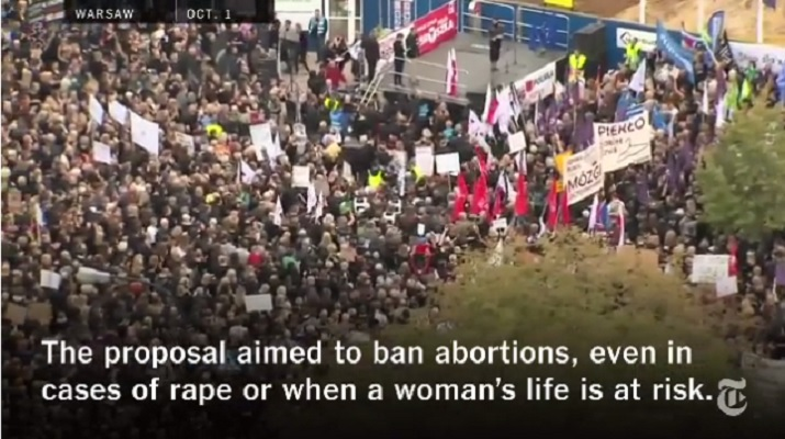 Video round up: Poland's proposed abortion ban draws opposition throughout Europe